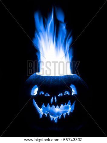 Blue Flaming Pumpkin