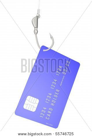 Credit card with hook