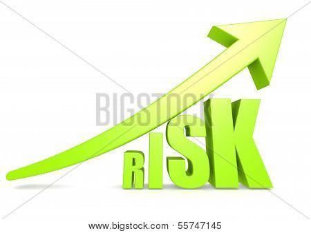 Risk with green arrow