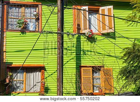 Green house in La Boca