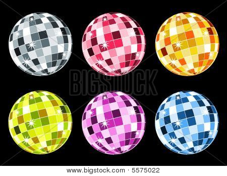 Set Of Disco Balls