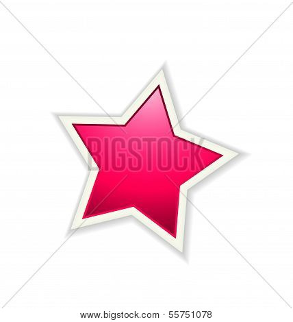 The pink glossy star