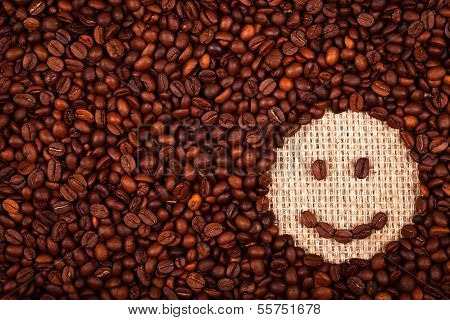 Coffe Beans Happy Face