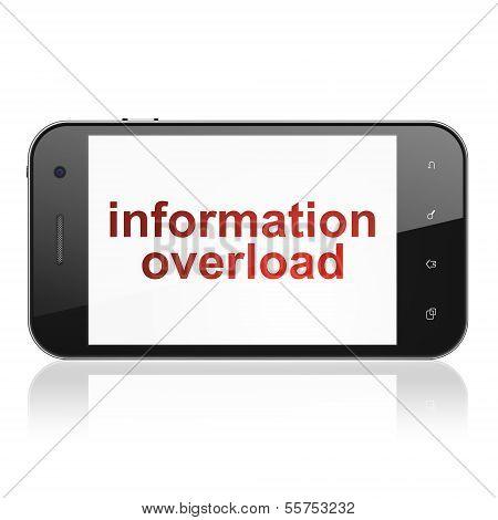 Data concept: Information Overload on smartphone