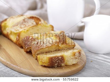 Fresh Fruitcake, Coffee And Cream