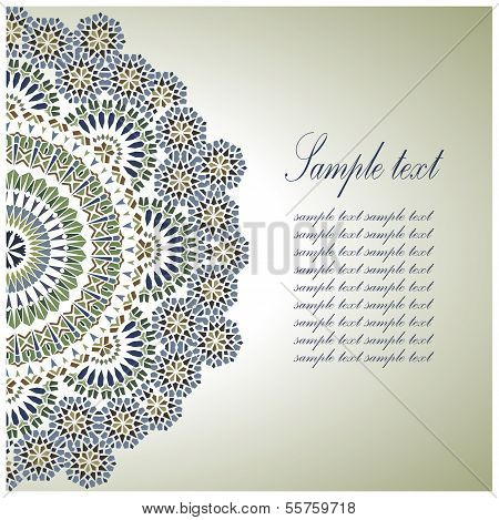 Vintage Background Traditional Ottoman Motifs.