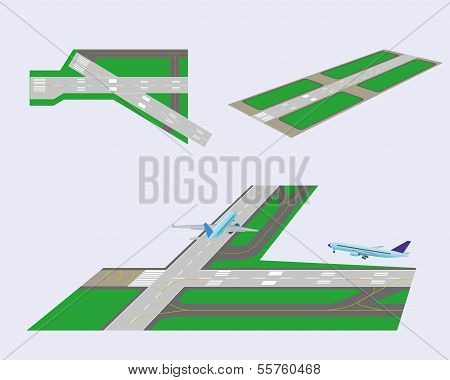 Set. Runways