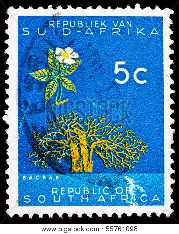 Post Stamp From Republic Of South Africa