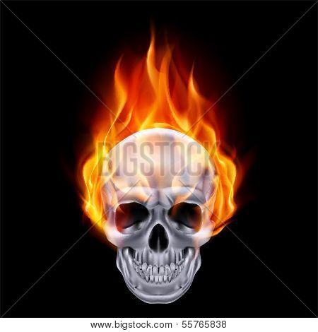 Fiery skull.