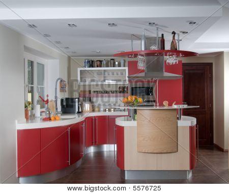 Red Modern Kitchen