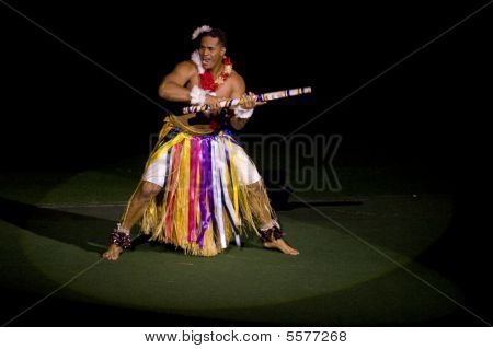 Tongan Dancer At Polynesian Cultural Center