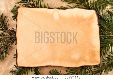 Rustic Paper With Branch Around