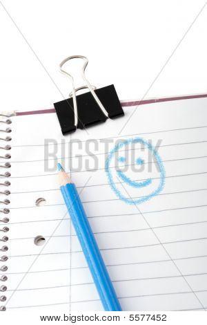 Smiley Scribbles In School