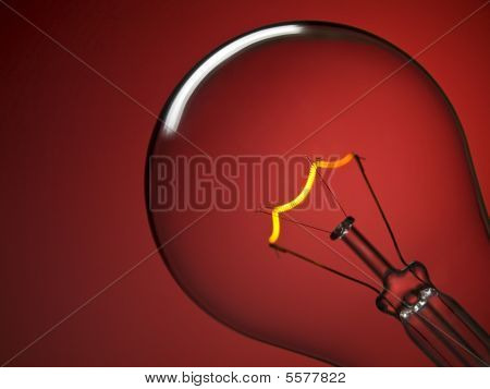 Bulb Light Over Red