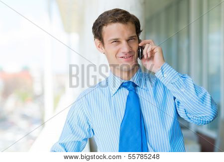 businessman talking on a cell phone