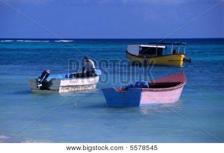 Small Boats - Saona Island - Dominican Republic