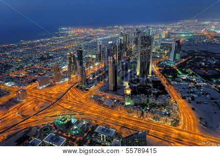 City Skyscrapers Night View