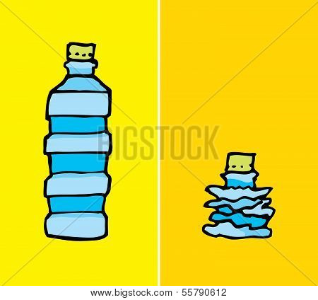 Compacted Plastic Bottle