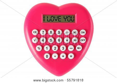 Red Heart Shaped Calculator