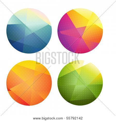 Set Of Color Spheres, Vector Illustration