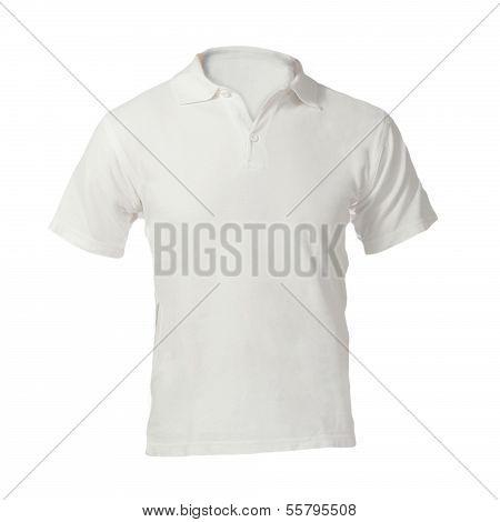 Men's Blank White Polo Shirt Template