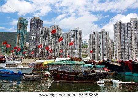 Hong Kong, Traditional Junks In The Aberdeen