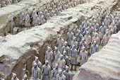 foto of qin dynasty  - Beautiful view of the terracotta army in Xian China - JPG