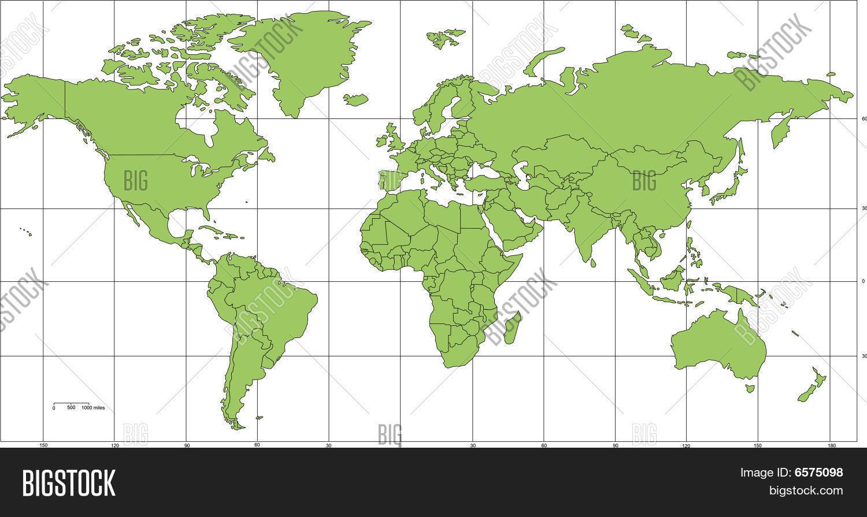 Mercator projection with latitude and longitude gumiabroncs Images