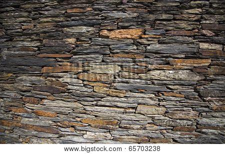 modern slate stone wall