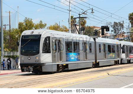 Metro Rail In Los Angeles