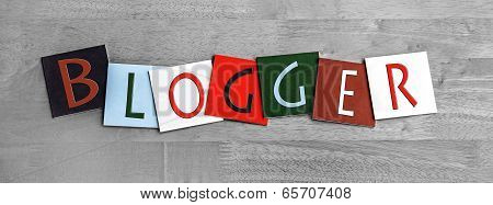 Blogger, Sign for Internet Blogs, Blogging and Computer Users.