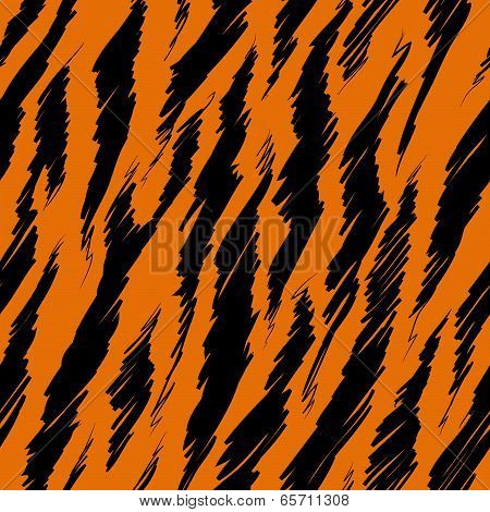 Tiger Stripes Skin Seamless Pattern