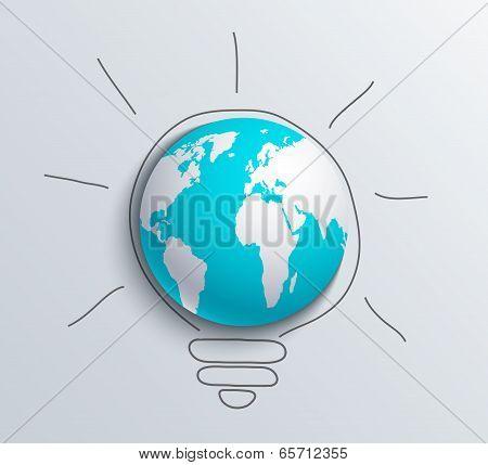 Vector modern concept idea and world