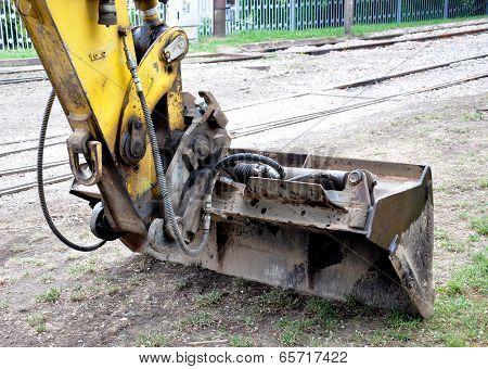 backhoe excavator from