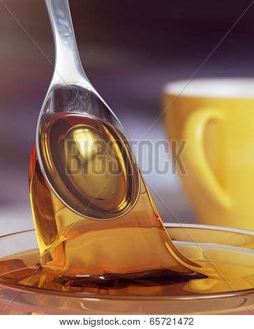Honey and spoon