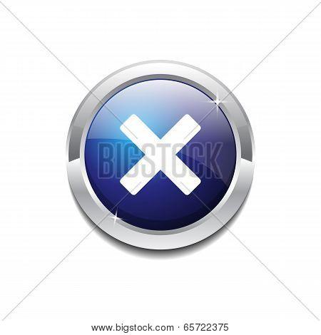 Cross Circular Blue Vector Web Button