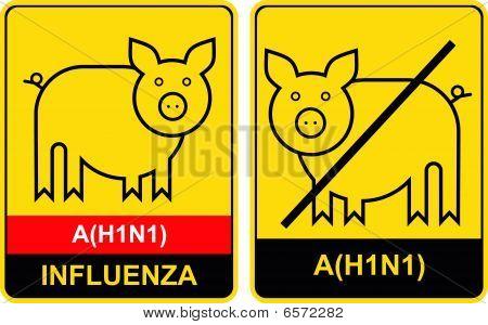Swine Flu - warning sign