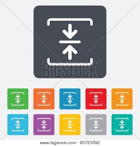Archive file icon. Compressed zipped file.