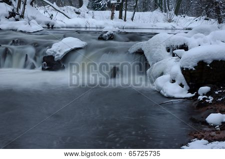 River in the winter.