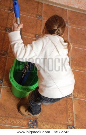 Child Cleaning Up