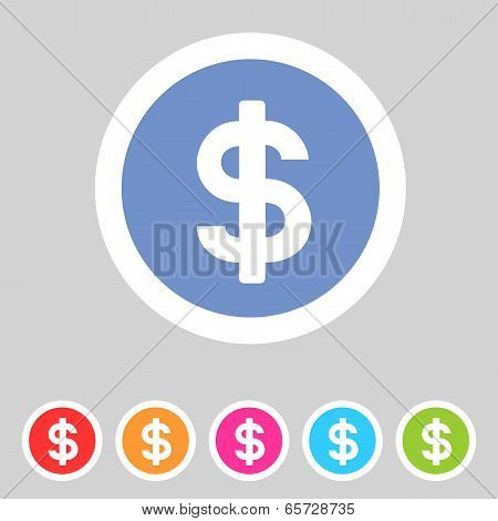Flat game graphics icon money
