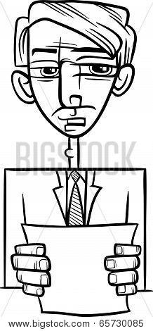 Man Giving Speech Cartoon Illustration