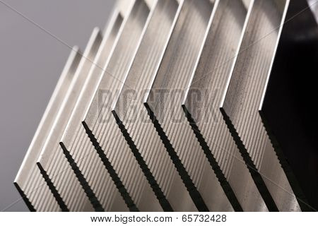 Metal stripped radiator closeup picture