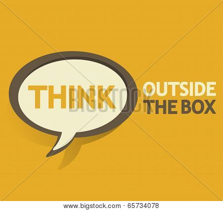 Think outside the box bubble