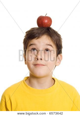Boy With Apple On His Head
