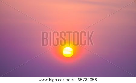 Sunset In The Vivid Sky