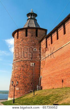 Kremlin wall and tower Russia Nizny Novgorod