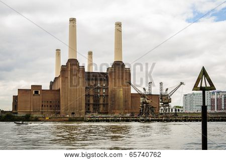 Battersea power station in London, UK