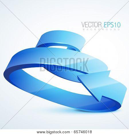 vector 3d spiral arrow illustration