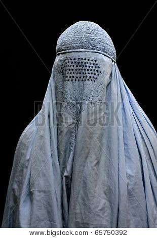 Close up of burqa
